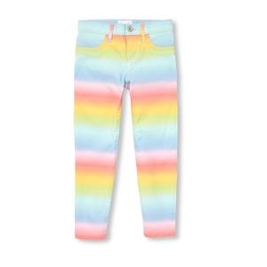 NWT Children's Place Rainbow Woven Jeggings 5